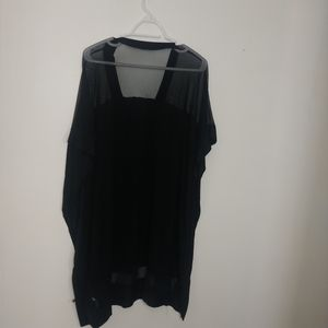 Other - Black Flowy Mesh Swim Cover up